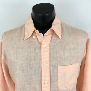 Brooks Brothers 1818 Button Up Shirt Irish Linen L